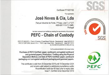 jose neves embalagens certificacao PEFC